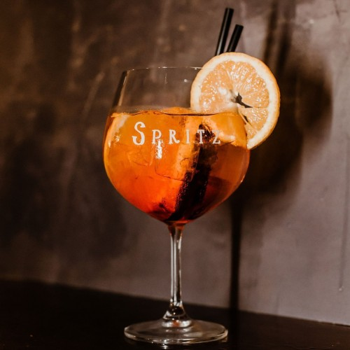 "set 2 calici spritz  decoro serigrafato bianco ""Spritz"" Simple Day"