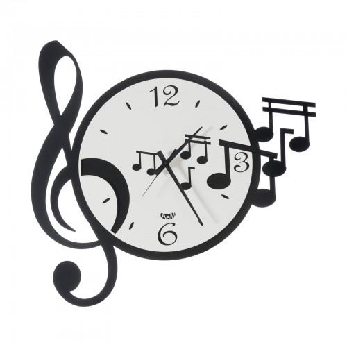 """ARTI & MESTIERI, orologio da parete """"Musica"""", colore nero/bianco"""