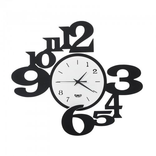 """ARTI & MESTIERI, orologio da parete """"King"""" colore nero/bianco"""