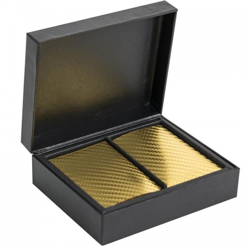 carte da gioco, versione gold, in elegante scatole nera