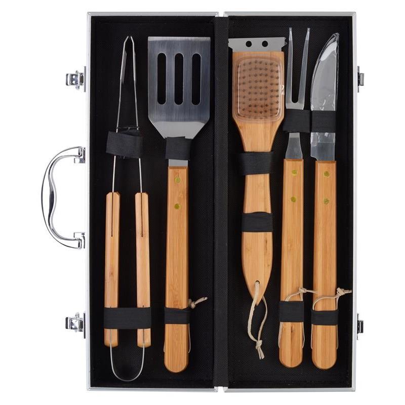 accessori per barbecue, set 5 pezzi, in elegante valigetta, LA CHAISE LOUNGE