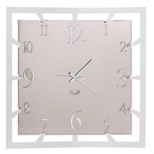 """ARTI & MESTIERI, orologio da parete """"Big soqquadro"""" acciaio, bianco marmo"""