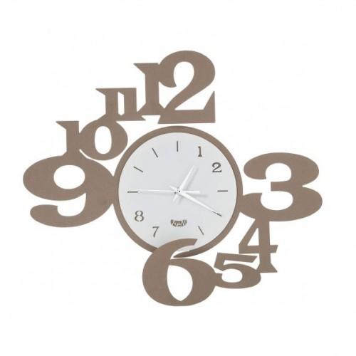 """ARTI & MESTIERI, orologio da parete """"King"""" colore bianco/beige"""