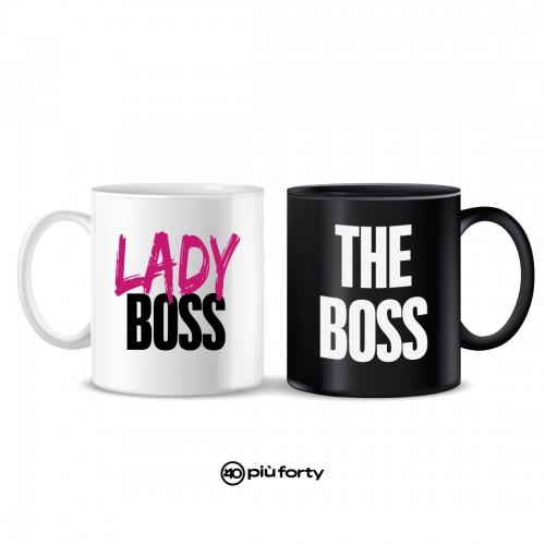 coppia tazze caffè' boss e lady boss