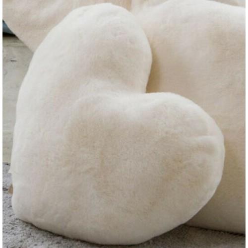 L'Atelier 17 cuscino a forma di cuore lapin mod Lapin