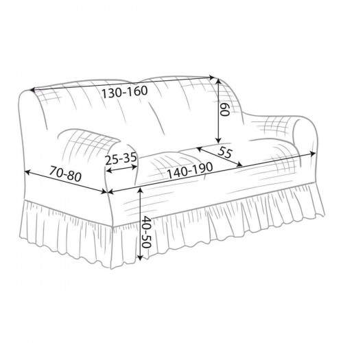 copri divano stretch, due posti Blanc MariClò naturale