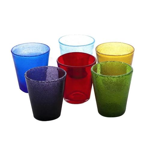 """Bicchieri Acqua Bally """"Gli Originali""""  in VETRO SOFFIATO Colori Vari"""