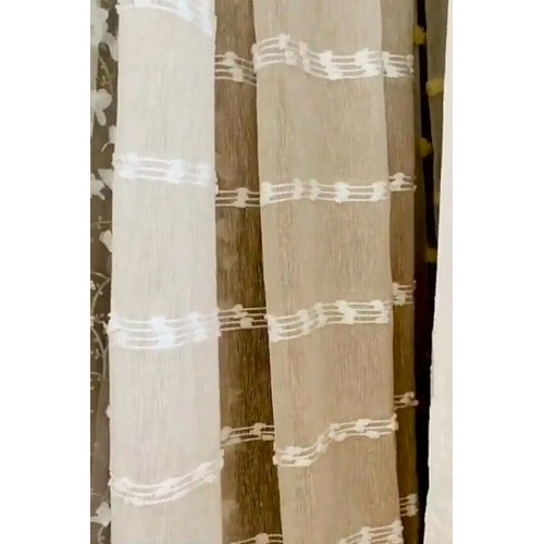 Blanc Mariclo' tenda con passanti cm 60x220 serie Jacquard beige